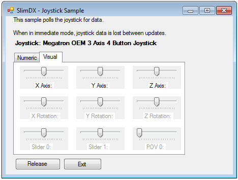 Joystick Slimdx screenshoot v1